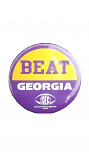 "LSU Tigers Purple and Gold 3"" SEC Beat Georgia Gameday Rivalry Pin"