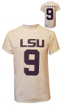 LSU Unisex White #9 Football Jersey T-Shirt