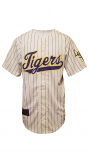 LSU Men's White Striped Polyester Baseball Jersey