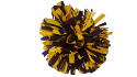 "Game Day Purple and Gold Pom Pom with 6"" Streamers"