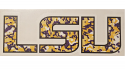 SDS LSU Purple & Gold Digital Camo Vinyl Decal