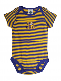 Creative Knitwear LSU Tigers Purple & Gold Striped Infant Lap Shoulder Onesie