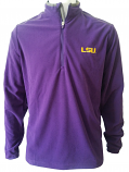 Antigua LSU Men's Purple Glacier Quarter-Zip Pullover Jacket