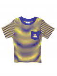 Creative Knitwear Infant Purple and Gold Stripe Pocket T-Shirt