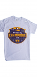 LSU NATIONAL CHAMPS LOGO Short Sleeve T-Shirt - White