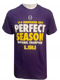 LSU Retro Brand PERFECT SEASON National Championship T-Shirt - Purple