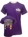 LSU Tigers LSU VS Clemson College Playoff National Championship SCORE Short Sleeve T-Shirt - Purple
