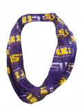 LSU College Concepts All Over LSU Print Infinity Scarf