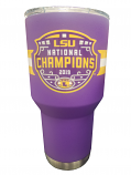 LSU National Championship Logo Stainless Steel Purple Tumbler - 30 oz.