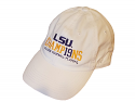 LSU TOP OF THE WORLD BOLSTER National Championship Adjustable HAT -White
