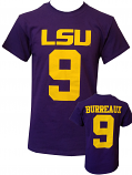 LSU Licensed Joe Burrow/Burreaux #9 Short Sleeve Jersey T-Shirt - Purple