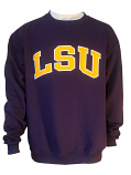 Champion LSU Unisex Purple Appliqued Sweat Shirt