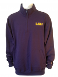 Champion LSU Men's Purple Half-Zip Sweat Shirt