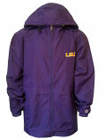 Champion LSU Men's Purple Polyester Full Zip Hoodie Jacket