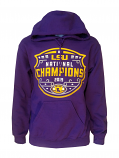 Bayou LSU Tigers Purple Unisex 2019 National Football Championship Logo Hoodie Sweat Shirt