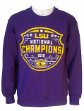 Bayou LSU Tigers Purple Unisex 2019 National Football Championship Logo Crew Sweat Shirt
