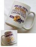 LSU 2019 National Football Championship Season Game Scores Ceramic Mug