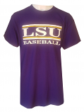 Bayou LSU Purple Unisex Baseball Classic Bar Design T-Shirt