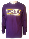 Bayou LSU Purple Unisex Classic Bar Design Long Sleeve T-Shirt