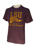 47 Brand LSU Adult Purple Vintage Baseball Pennant Tee