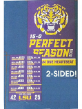 LSU National Champion Perfect Season Score Garden Flag