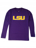 Gen2 LSU Youth Purple Geaux Font Long Sleeve Logo T-Shirt