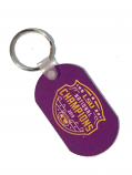 LSU Football National Championship Metal Dog Tag Key Chain