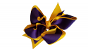 Gameday XL Purpel and Gold Hair Bow
