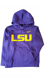 Nike Boy's Purple Therma Dri-FIT Pullover Hoodie