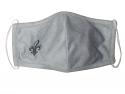 Fleur de Lis Grey Reusable Polyester  Face Mask