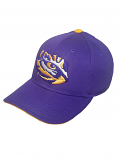 Gen2 LSU Youth Purple Tiger Eye Logo Structured Adjustable Hat