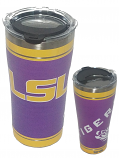 LSU Tigers Purple and Gold Tervis Stainless Steel Tumbler