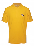 Antigua LSU Men's Gold Legacy Pique Polo
