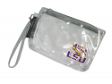 Logo LSU Clear Wrist Purse - Stadium Friendly
