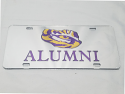 Craftique LSU Silver Acrylic Inlaid Tiger Eye Alumni License Plate