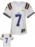 Nike LSU Toddler's White #7 Untouchable Football Jersey