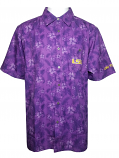Chiliwear Colosseum LSU Purple Men's Molokai Camp Shirt