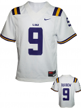 Nike LSU Youth White #9 Burrow Untouchable Jersey