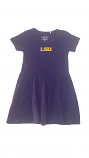 Garb LSU Toddler Girl's Purple Fia Tier Dress