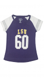 Garb LSU Toddler Girl's Lulu Football Tee