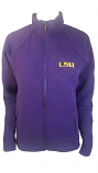 Antigua LSU Women's Purple Exhibit Full Zip Jacket