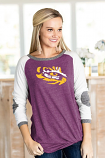 """LSU Tigers """"Best in the Fame"""" Elbow Patch Tunic"""