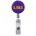 LSU Tigers Metal Reel ID Holder - Purple & Gold