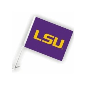 LSU Tigers Purple Geaux Font Car Flag