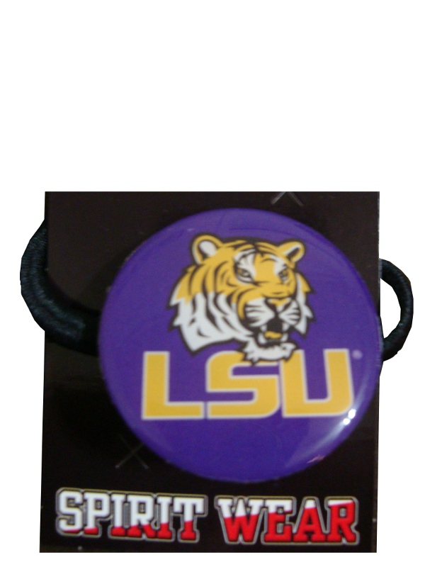 LSU Tigers Button Pony Tail Holder