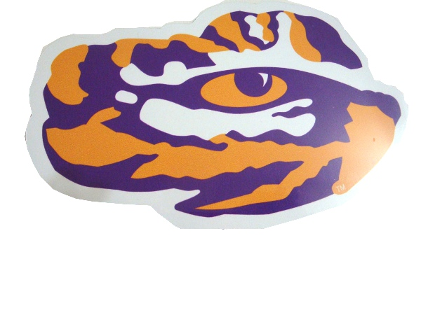 LSU Tiger Eye Car Magnet
