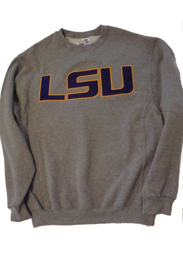 Russell LSU Tigers Crew Neck Sweatshirt - Grey
