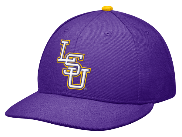 Nike LSU Tigers Official Authentic Onfield Players Fitted Baseball Cap - Purple
