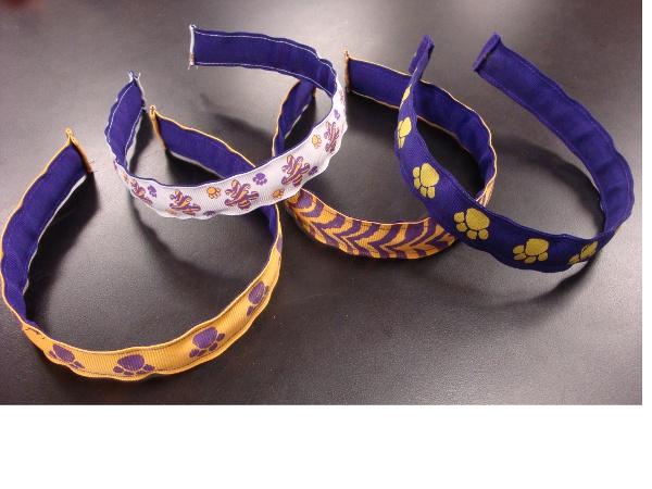 Purple and Gold Headbands (price per headband)
