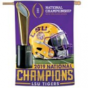 LSU Tigers National Champions Vertical BANNER FLAG